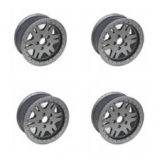 TERRAFIRMA LAND ROVER 4X4 DISCOVERY 2 SET OF 4 RVS ALLOY BEAD LOCK WHEELS TF107